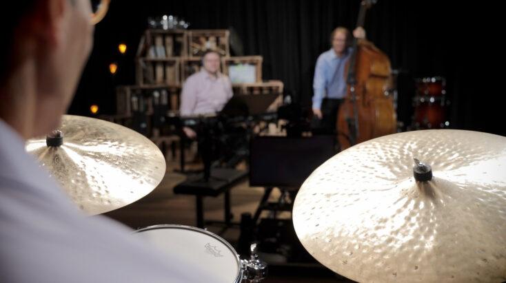 Riley Jazz Ensemble Playing tb